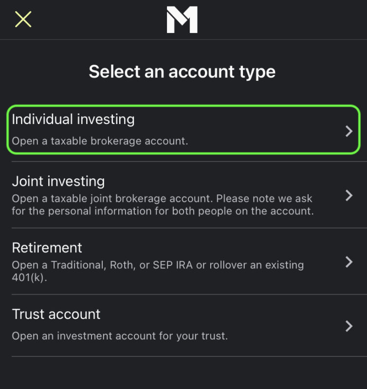 create-account-m1-individual-investing